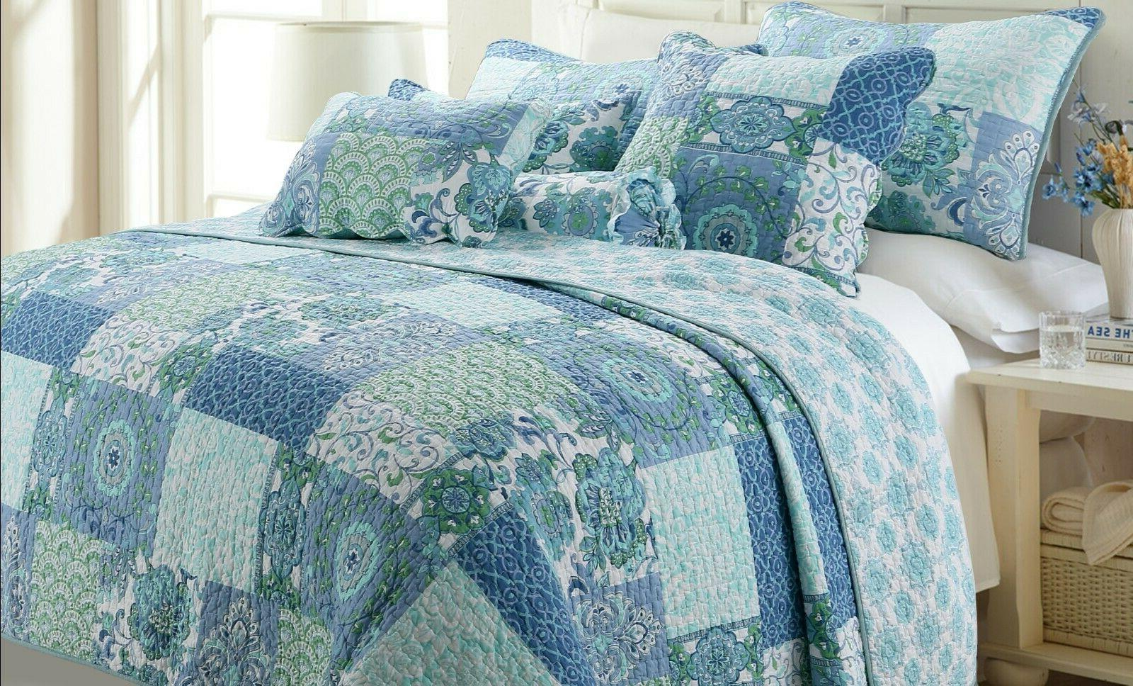 windfall reversible cotton quilt set bedspread coverlet