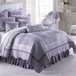 Donna Sharp Lavender Rose Quilt Coverlet Bedspread Cottage