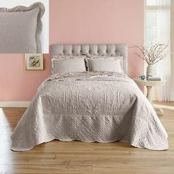 BrylaneHome Lily Damask Embossed Bedspread
