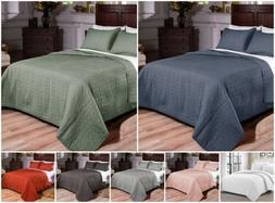 Chezmoi Collection 3-Piece Vintage Washed 100% Cotton Bedspr