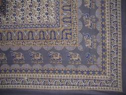 "Mandala Elephant Tapestry Cotton Bedspread 90"" x 87"" Full Bl"