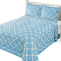 Mandy Chenille Tufted Diamond Pattern Bedspread