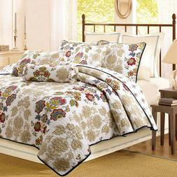 Moraga Reversible Cotton Quilt Set, Bedspread, Coverlet