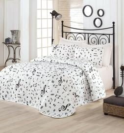 Music Bedding Music Themed Full/Queen Size Bedspread/Coverle