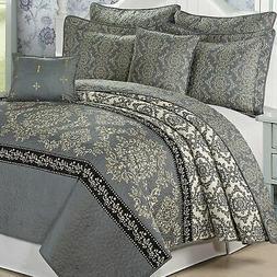 Serenta Mystic Printed Reversible 7 Piece Quilt Bedspread