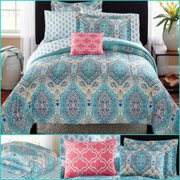 New 8 Piece Paisley King Size Comforter Set Modern Bedding B