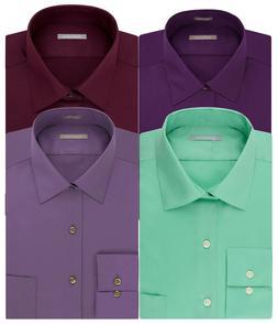 New Van Heusen Men's Athletic-Fit Lux Sateen Spread-Collar D