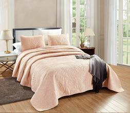 OverSize CAL KING Savannah Quilt Blush Pink Microfiber Bedsp