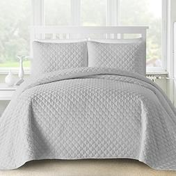 Comfy Bedding 3-Piece Bedspread Coverlet Set Oversized and P