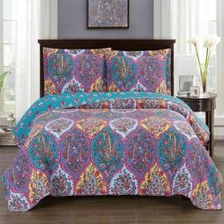 Passionately Printed Viola Oversized Quilted Coverlet Mini B