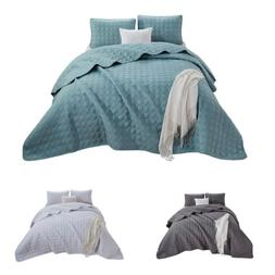Chezmoi Collection Plano 3-Piece Geometric Embossed Oversize