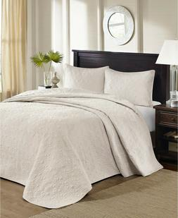 Madison Park Quebec 2-Piece Twin Quilted Bedspread Set Ivory