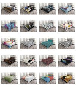 Quilted Bedspread Set Bedroom Decor Printed Coverlet by Ambe