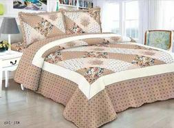 quilted comfort bedspread set queen king cal