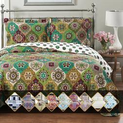 Luxury Bedding 2-3 Pieces Oversized Bedspread Coverlet Set R