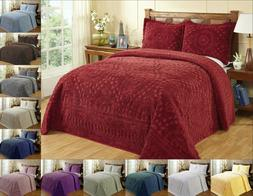 Better Trends Rio 100% Cotton Tufted Chenille Bedspread Asso