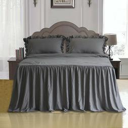 Ruffle Skirt Bedspread Set - Quilts and bedspreads Lightweig