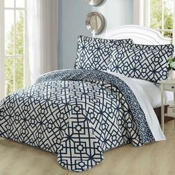 Home Soft Things Serenta 3 Piece Bedspread Quilts Coverlet B