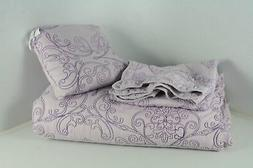 Home Soft Things Serenta Damask 4 Piece Bedspread Set Queen
