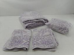 Home Soft Things Serenta Damask 4 Piece Bedspread Set, Queen