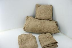 Home Soft Things Serenta Damask 4 Piece Quilted Bedspread Se
