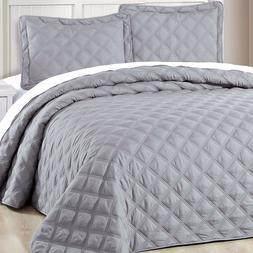Serenta Down Alternative Quilted Charleston 3 PC Bedspread S