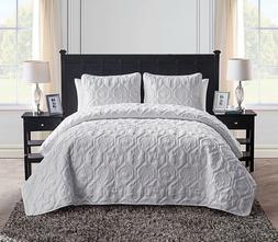 VCNY Home Shore 3-Piece Reversible Bedding Quilt Set, Queen