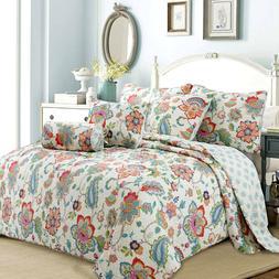 Simone Floral Jacobean 3-Piece Reversible Quilt Set, Bedspre