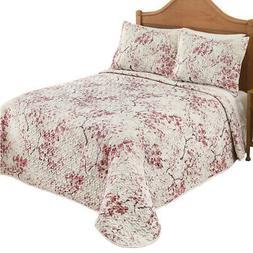 Sophie Pink Floral Blossom Quilted Bedspread