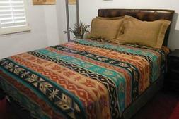 "Southwest Style Bedspreads 7028B (Reversible, Q=88""X96"", K=1"