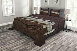 Lunarable Sports Bedspread American Football Leather Laces F
