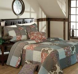 Greenland Home Fashions Stella Quilt Set, Full/Queen