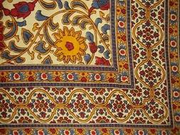 "Sunflower Print Tapestry Cotton Bedspread 108"" x 88"" Full-Qu"