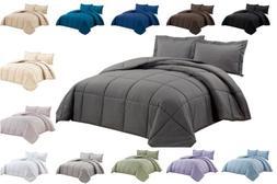 Chezmoi Collection Super Soft Down Alternative Comforter Set