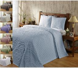 Better Trends Trevor 100% Cotton Tufted Chenille Bedspread &
