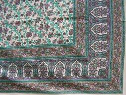 turkish floral tapestry cotton spread 106 x