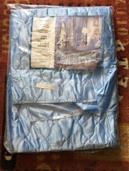 Twin - Satin Bedspread-Blue Emilio Ricci -Beatrice Made In U