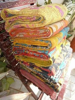 Vintage Sari Kantha Quilt Twin Printed Kantha Bengali Wholes