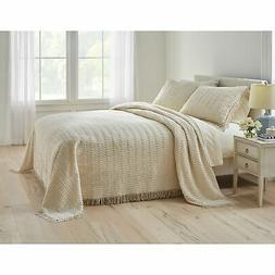 BrylaneHome Wave Chenille Bedspread