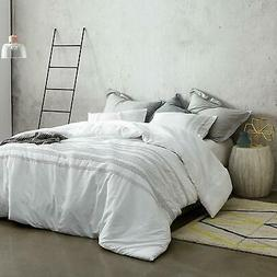 White Embroidered King Comforter Oversized King XL Bedding