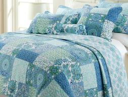 Windfall Reversible Cotton Quilt Set, Bedspreads, Coverlet