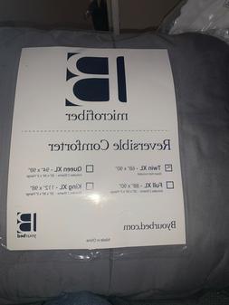 Yellow and Gray Reversible Microfiber Twin XL Comforter, Nev