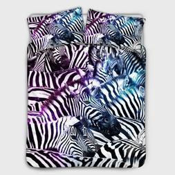 Zebra Bedding Set Cover Bedspread Sheet Comfort Twin Queen K